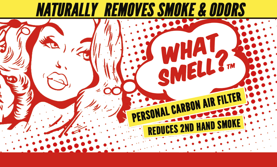 What Smell? Removes 2nd Hand Smoke and Odors. The only Natural Blow-thru Personal Smoke Air Filter